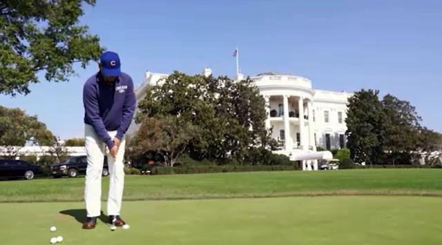 Bill Murray with President Obama at the White House