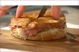 Preparing a Reuben Sandwich