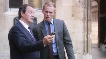 A Scene from Inspector Lewis: The Indelible Stain