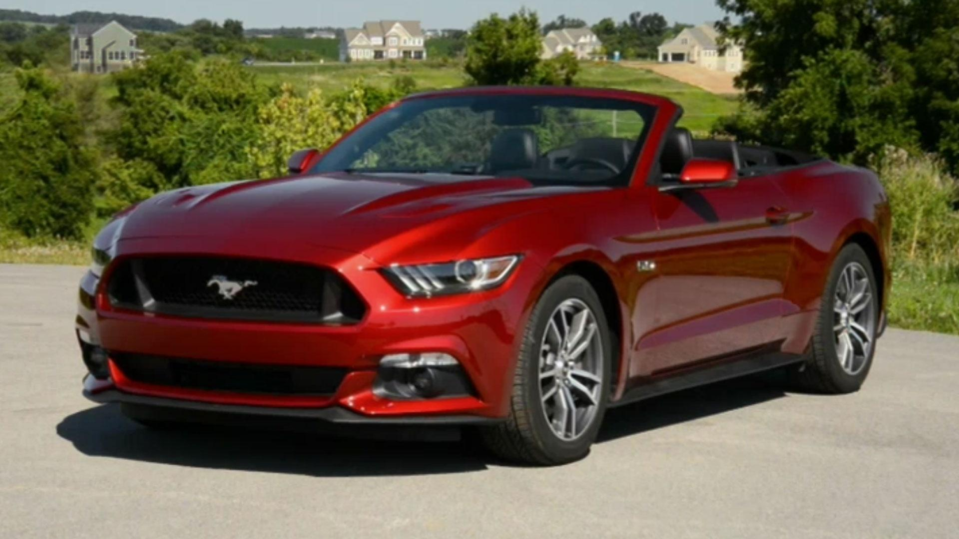 motorweek 2015 ford mustang gt convertible compact suv. Black Bedroom Furniture Sets. Home Design Ideas