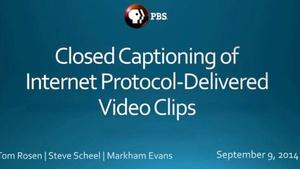 Webinar: Closed Captioning for Online Clips
