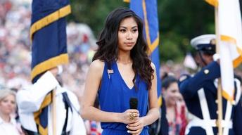 Jessica Sanchez Sings the National Anthem