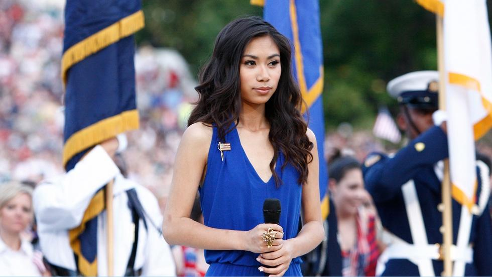 Jessica Sanchez Sings the National Anthem image
