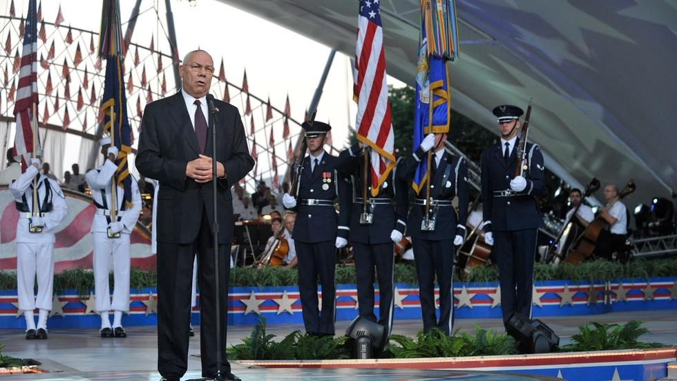 Colin Powell Thanks Troops image