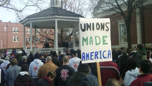 Unions vs. state governments, income inequality image