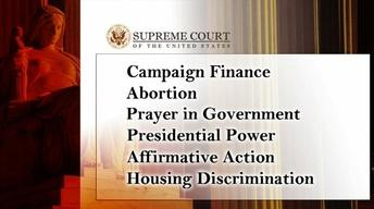 Supreme Court opens cases on campaign money, abortion