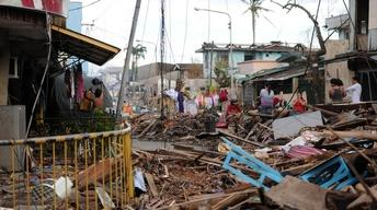 Debris continues to be obstacle to typhoon relief efforts