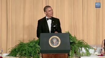 Obama takes jabs at GOP, media at correspondents' dinner