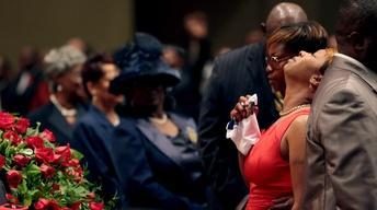After funeral, how does Ferguson begin repair?