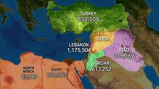 3 million Syrian refugees strain neighboring countries