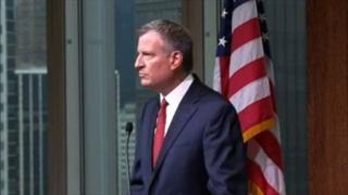 De Blasio addresses criticism by NY police union