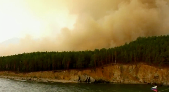 Wildfires in Russia scorch world's largest freshwater lake