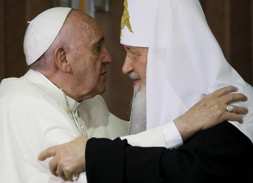 Pope and patriarch meet for first time in nearly 1,000 years