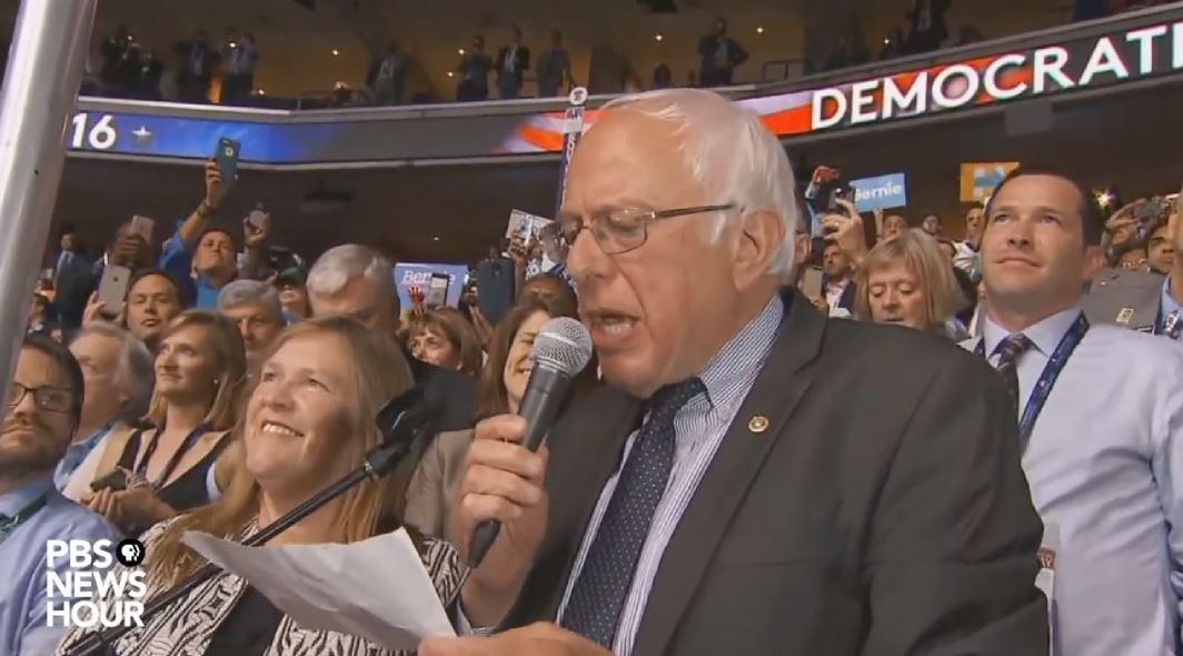 Bernie Sanders moves to nominate Clinton by voice vote