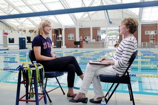 At the pool with freestyle phenom Katie Ledecky