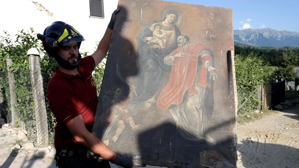 Saving treasured art after Italy's major earthquake image
