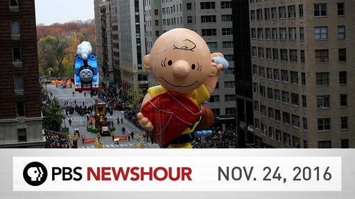 PBS NewsHour full episode Nov. 24, 2016 Video Thumbnail