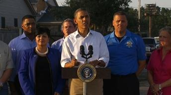 President Obama visits New Orleans Hurricane Isaac