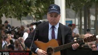 Paul Simon Performs 'The Sounds of Silence' at Ground...