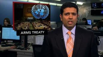 News Wrap: UN Adopts Global Arms Trade Treaty