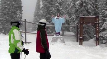 Slippery Slope? Teens Report on Whitefish Jesus Statue