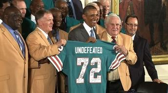 Sports Fan in Chief Honors Champion 1972 Miami Dolphins