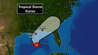 News Wrap: Tropical storm Karen closes in on the Gulf coast
