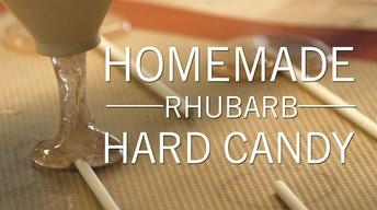 Homemade Rhubarb Hard Candy