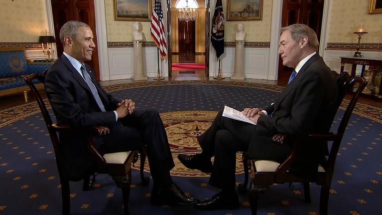 Charlie Rose Interviews President Obama