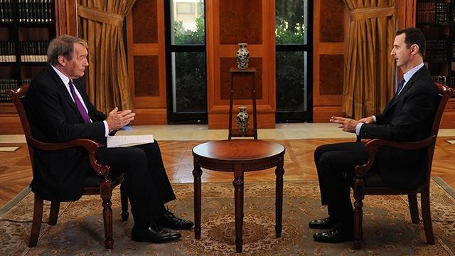 Charlie Rose Assad Interview image