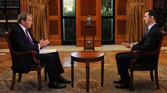Charlie Rose Assad Interview image