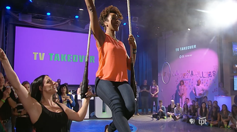 TV Takeover - Circus Juventas | Adia Learns the Trapeze