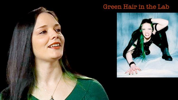 Rachel Collins: Green Hair in the Lab image
