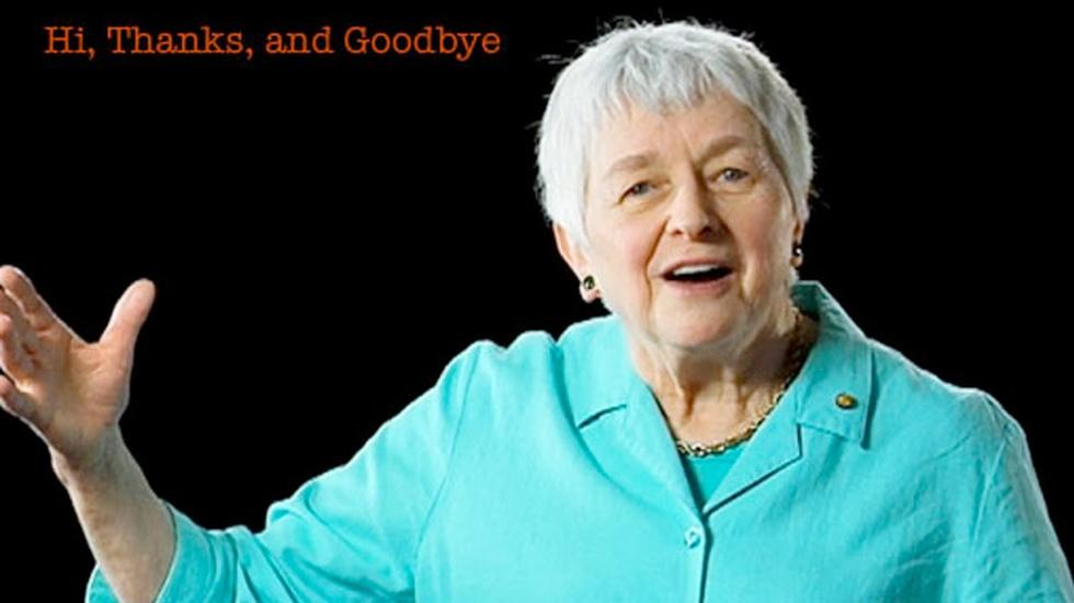 Jean Berko Gleason: Hi, Thanks, and Goodbye image