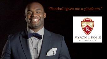 "Myron Rolle: ""Football gave me a platform."""