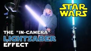 Creating the original Star Wars lightsaber effect