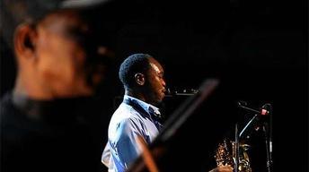 """Seun Kuti performs """"Zombie"""""""