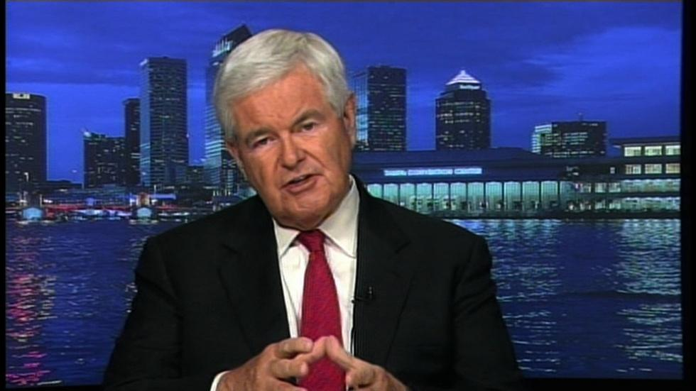 Former GOP presidential candidate Newt Gingrich image