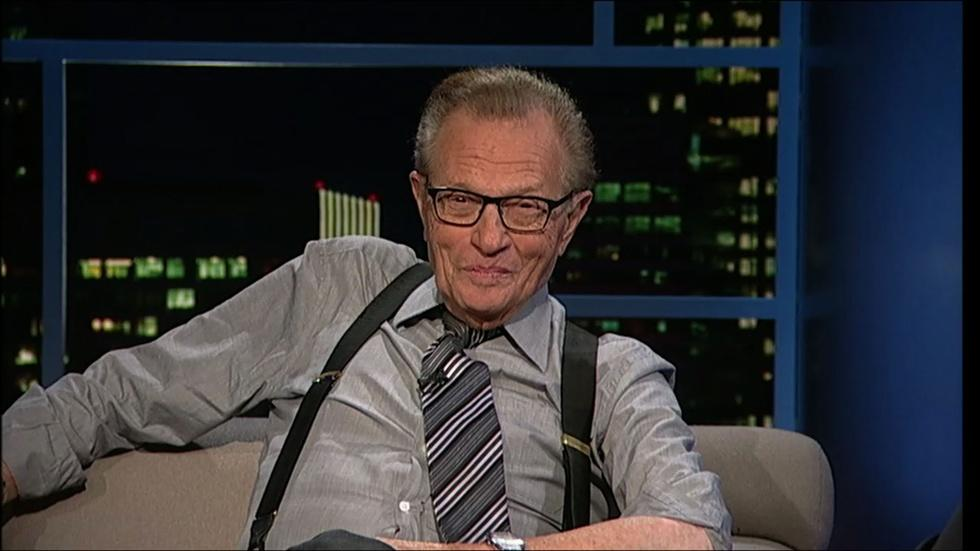 Talk show host Larry King image