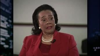 Civil rights activist Coretta Scott King