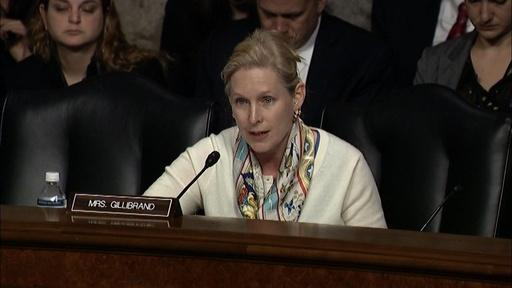 Sen. Gillibrand Questions Sec. of Defense Nominee Carter