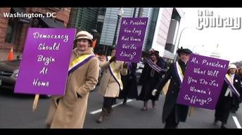 Women's Suffrage March Reenactment