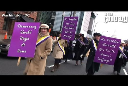 Women's Suffrage March Reenactment