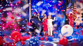 Hillary Clinton makes history as Democratic nominee