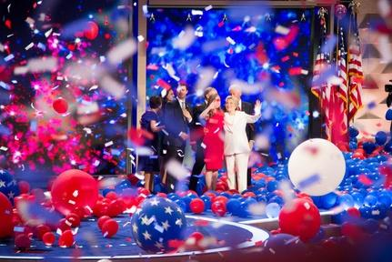 Hillary Clinton makes history as Democratic nominee Video Thumbnail