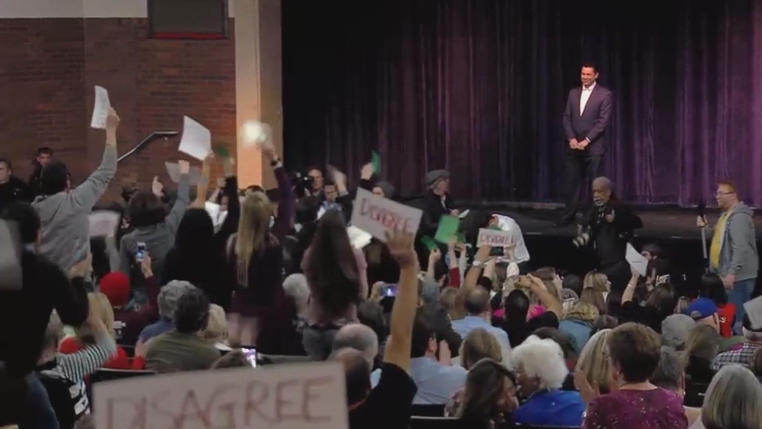 Angry constituents pack Congressional town halls