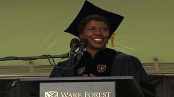 Gwen Ifill gives Wake Forest University Commencement Address