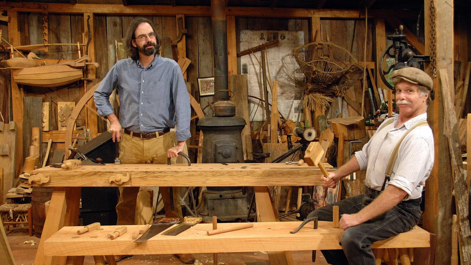 Video: S36 Ep10: Roman Work Bench | Watch The Woodwright's ...