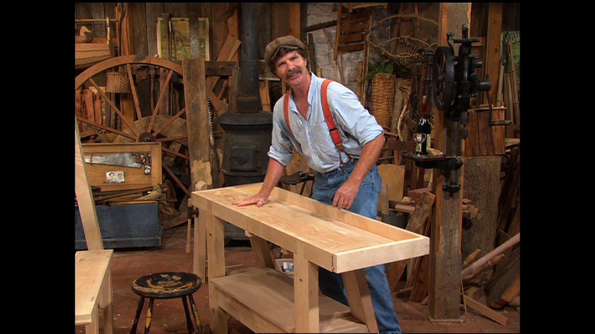 video french work bench part 1 watch the woodwrights