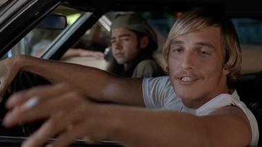 "Linklater and Matthew McConaughey on ""Dazed and Confused"""